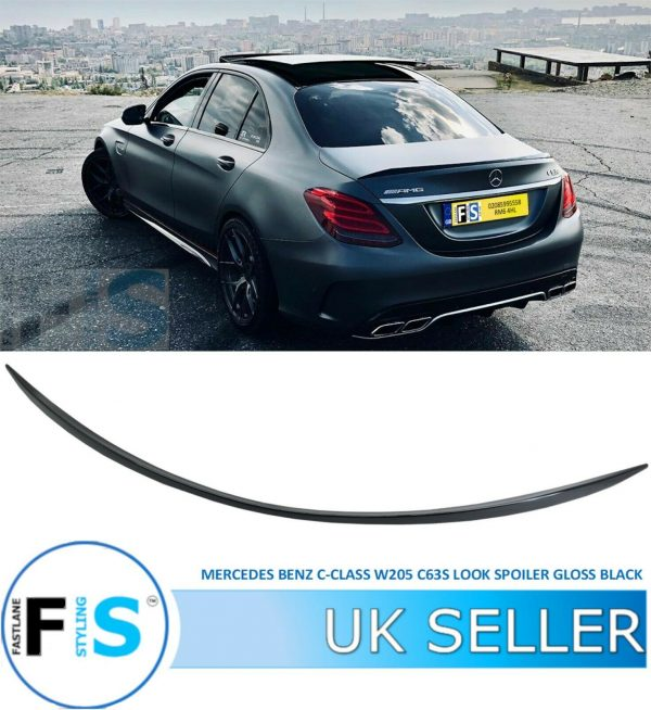 MERCEDES C CLASS W205 C63S AMG LOOK REAR BOOT LIP SPOILER