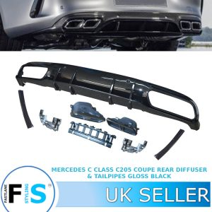 MERCEDES C CLASS A205 C205 COUPE DIFFUSER TIPS