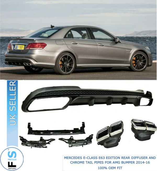 MERCEDES E-CLASS W212 E63 LOOK REAR DIFFUSER