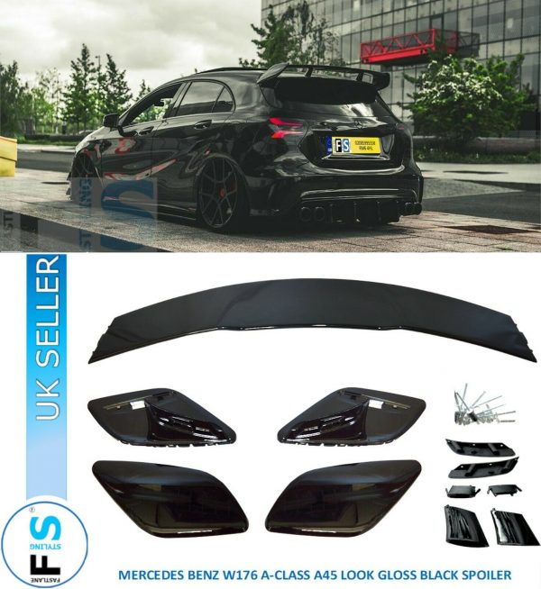MERCEDES BENZ W176 A CLASS A45 AMG STYLE BOOT ROOF SPOILER