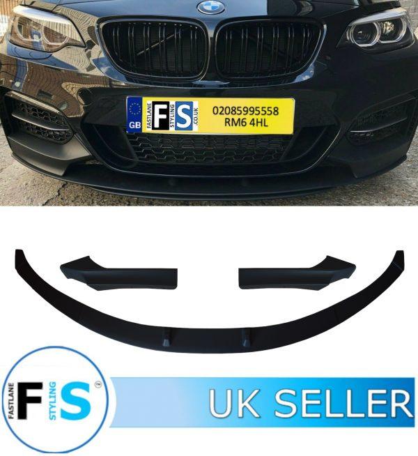 BMW 2 SERIES F22 F23 3 PIECE FRONT DIFFUSER SPLITTER