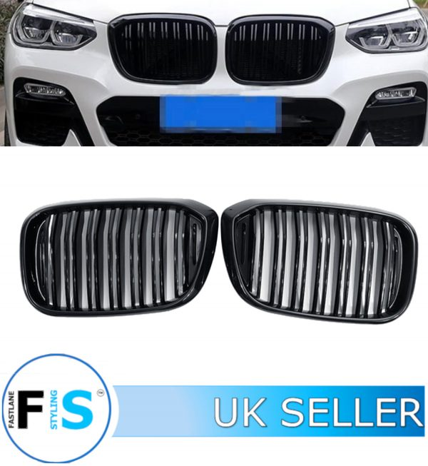 BMW X3 G01 X3M GLOSS BLACK M PERFORMANCE FRONT KIDNEY GRILLE