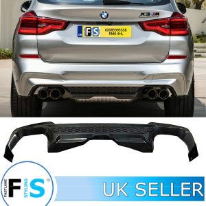BMW X3 G01 X3M STYLE M-PERFORMANCE GLOSS BLACK REAR DIFFUSER