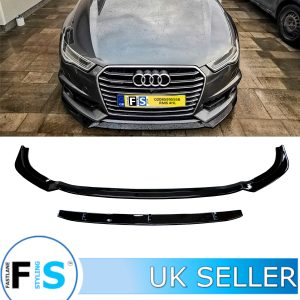 AUDI A6 C8 18+ 2 PIECE RS STYLE FRONT LIP SPLITTER