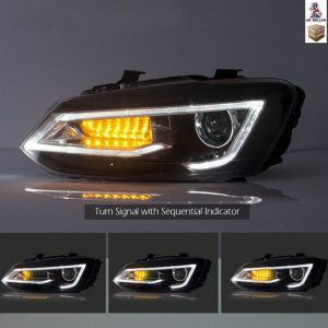 VW POLO MK5 6R 6C LED SEQUENTIAL DRL HEADLIGHTS