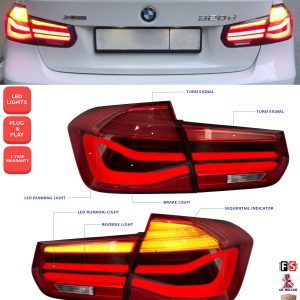 BMW 3 SERIES F30 F35 LED SEQUENTIAL REAR LIGHTS M SPORT