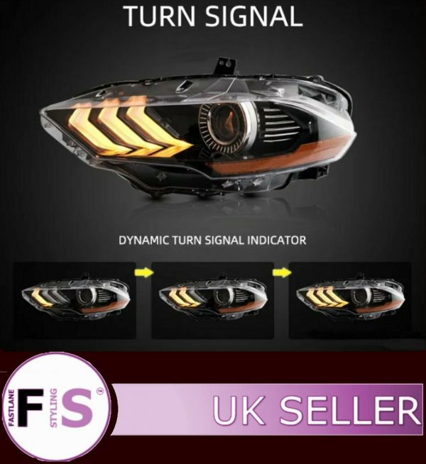 FORD MUSTANG HEADLIGHTS RGBW STYLE