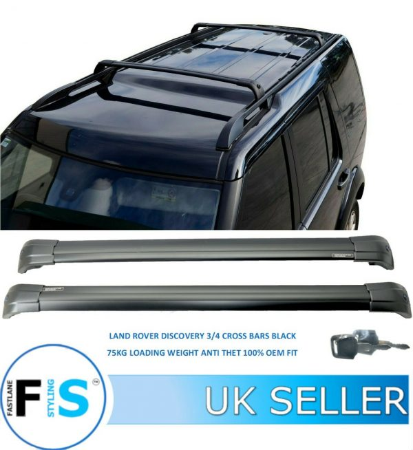 LAND ROVER DISCOVERY 3 & 4 ROOF RACK CROSS BARS ANTI THEFT