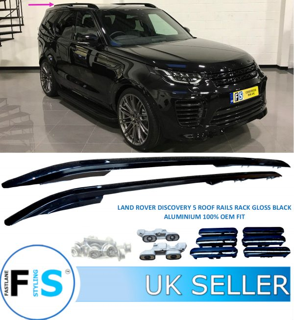 LAND ROVER DISCOVERY 5 L462 ROOF RAILS GLOSS BLACK