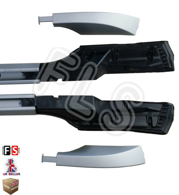 LAND ROVER DISCOVERY 3 & 4 ALUMINIUM EXTENDED ROOF RAILS SILVER