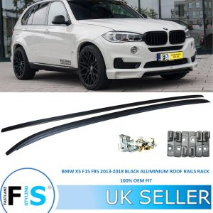 BMW X5 F15 F85 2013-2018 FLUSH BLACK ALUMINIUM ROOF RAILS