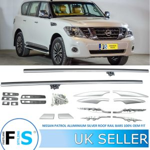 NISSAN PATROL MK4 ROOF RAILS BARS RACK SILVER