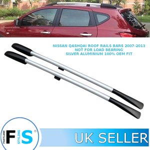 NISSAN QASHQAI DECORATIVE ROOF RAILS BARS SILVER