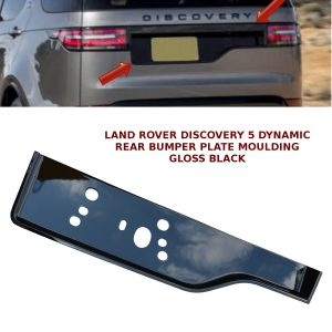 LAND ROVER DISCOVERY 5 REAR BUMPER NUMBER PLATE MOULDING DYNAMIC GLOSS BLACK