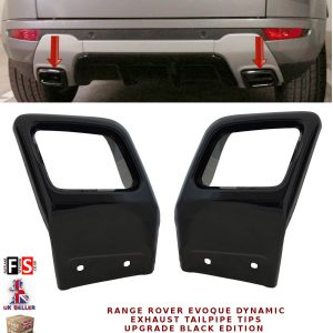 RANGE ROVER EVOQUE DYNAMIC EXHAUST TAILPIPE TIPS UPGRADE BLACK EDITION TAILPIPE