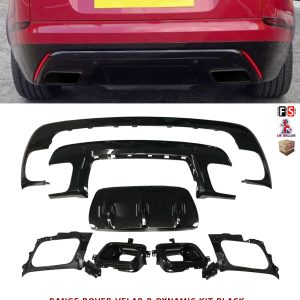 RANGE ROVER VELAR REAR BUMPER DIFFUSER LIP R DYNAMIC LOOK BODYKIT OEM FIT