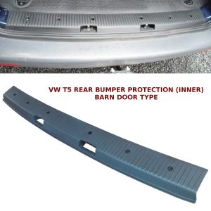VW T5 TRANSPORTER REAR BUMPER PROTECTOR BARN DOOR BUMPER COVER OEM STYLE
