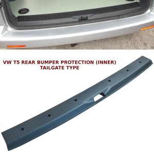 VW T5 TRANSPORTER REAR BUMPER PROTECTOR TAILGATE DOOR BUMPER COVER OEM STYLE