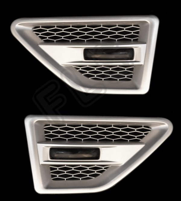 LAND ROVER FREELANDER 2 SIDE VENTS – SILVER INC REPEATERS-SMOKED – FL2SV-S-BR