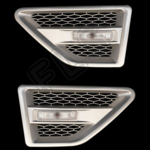 LAND ROVER FREELANDER 2 SIDE VENTS – SILVER INC REPEATERS-CLEAR – FL2SV-S-CR